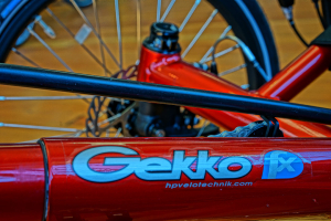 hp velotechnik gekko red close up